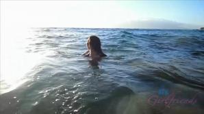 Brittany Shae has fun on the beach